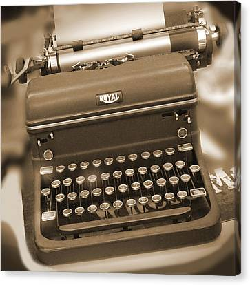 Royal Typewriter Canvas Print by Mike McGlothlen