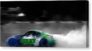 Rubber Burns Canvas Print by Steven  Digman