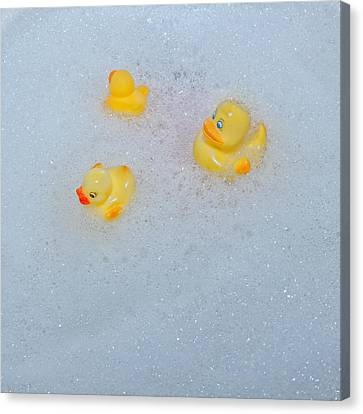 Rubber Ducks Canvas Print by Joana Kruse