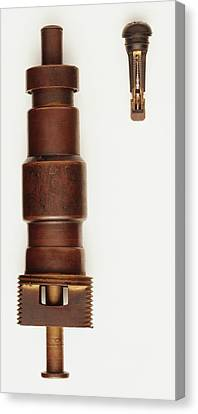 Rubber Snap In Valve And A Valve Core Canvas Print by Dorling Kindersley/uig