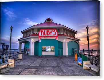 Ruby's Diner On The Pier Canvas Print by Spencer McDonald