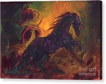 Ruckus Canvas Print by Linda L Martin