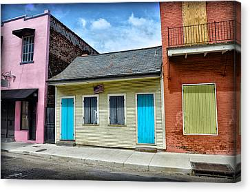 Rue Burgundy Canvas Print by Bill Cannon