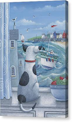 Ruff Canvas Print by Peter Adderley