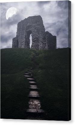 Ruin Of Castle Canvas Print by Joana Kruse
