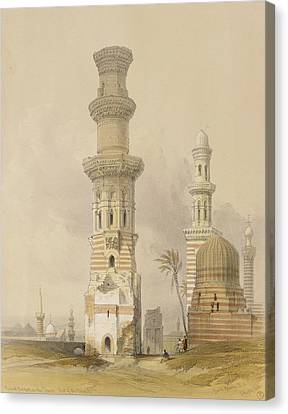Ruined Mosques In The Desert Canvas Print by David Roberts