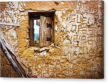 Ruined Wall Canvas Print by Carlos Caetano