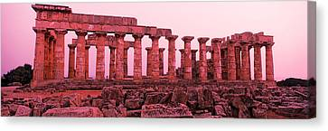 Ruins Of A Temple, Temple E, Selinunte Canvas Print by Panoramic Images