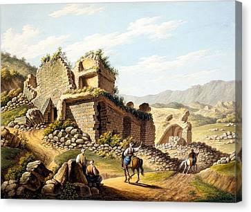 Ruins Of The Stadium, 1790s Canvas Print by Gaetano Mercati