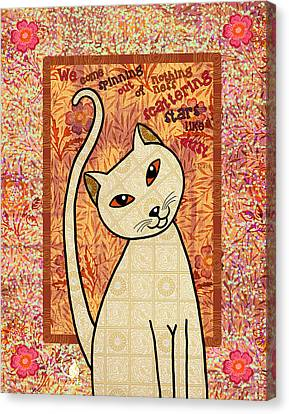 Rumi Cat Stars Canvas Print by Cat Whipple