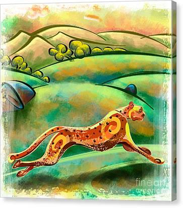 Run Cheetah Run Canvas Print by Bedros Awak