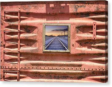 Running Down The Line Canvas Print by James BO  Insogna