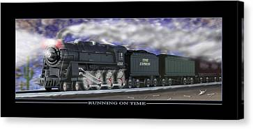 Running On Time Canvas Print by Mike McGlothlen
