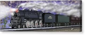 Running On Time Panoramic Canvas Print by Mike McGlothlen