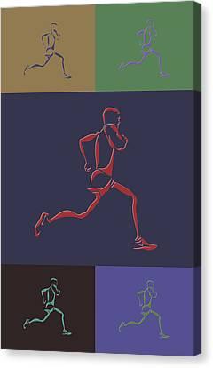 Running Runner Canvas Print by Joe Hamilton