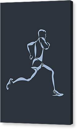 Running Runner12 Canvas Print by Joe Hamilton