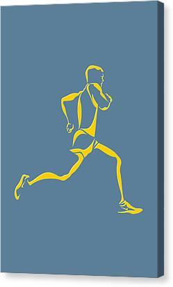 Running Runner13 Canvas Print by Joe Hamilton