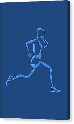 Running Runner15 Canvas Print by Joe Hamilton