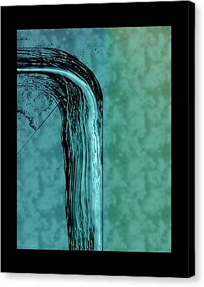 Running Water Canvas Print by Steve Godleski