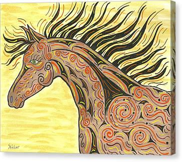 Running Wild Horse Canvas Print by Susie WEBER