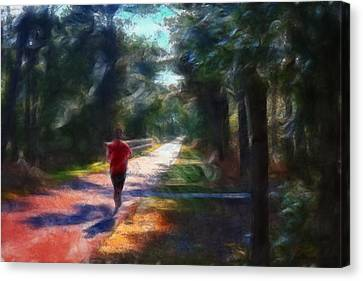 Running Canvas Print by William Sargent