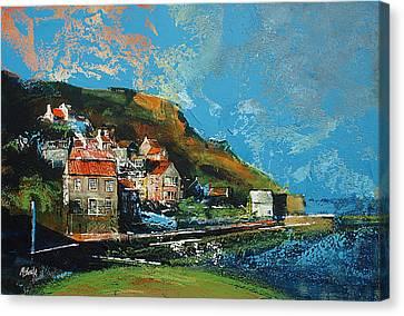 Runswick Bay Yorkshire Canvas Print by Neil McBride