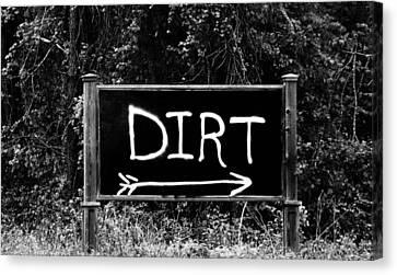 Rural Area Sign Canvas Print by Cynthia Guinn
