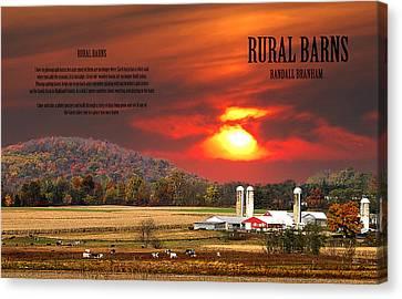 Rural Barns By Randall Branham Canvas Print by Randall Branham