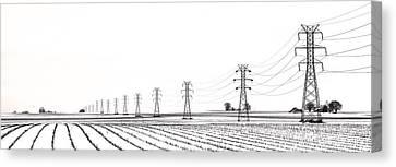 Rural Power Canvas Print by Steve Gadomski