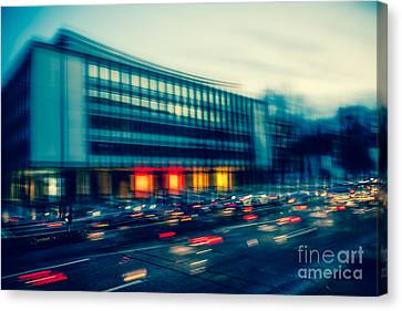 Rush Hour - Vintage Canvas Print by Hannes Cmarits