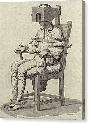 Rush's Tranquiliser Chair Canvas Print by American Philosophical Society
