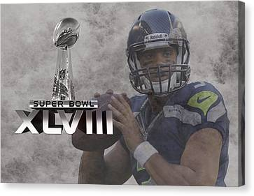 Russell Wilson Canvas Print by Joe Hamilton