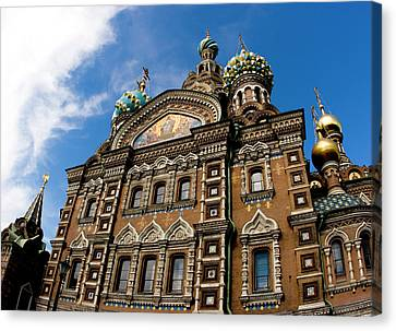 Russia, St Petersburg Church Canvas Print by Jaynes Gallery