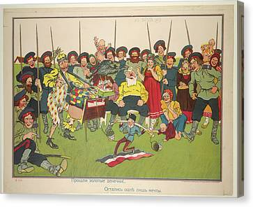 Russian Posters Of World War I Canvas Print by British Library