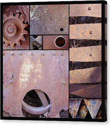 Rust And Metal Abstract  Canvas Print by Ann Powell