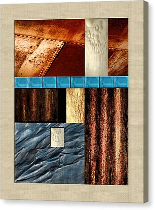Rust And Rocks Rectangles Canvas Print by Elaine Plesser