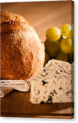 Rustic Bread With Cheese Canvas Print by Amanda And Christopher Elwell