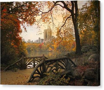 Rustic City View Canvas Print by Jessica Jenney