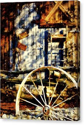 Rustic Decor Canvas Print by Janine Riley