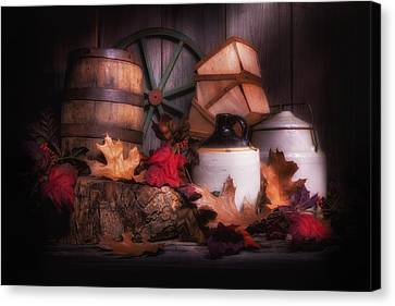 Rustic Fall Still Life Canvas Print by Tom Mc Nemar