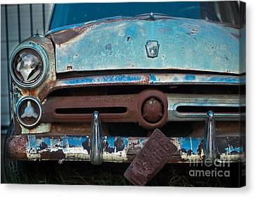 Rusty Blues Canvas Print by Sonja Quintero