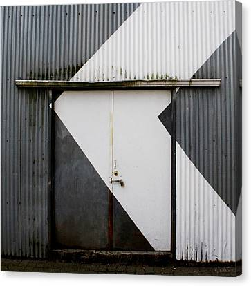 Rusty Door- Photographay Canvas Print by Linda Woods