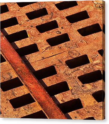Rusty Grate Canvas Print by Art Block Collections