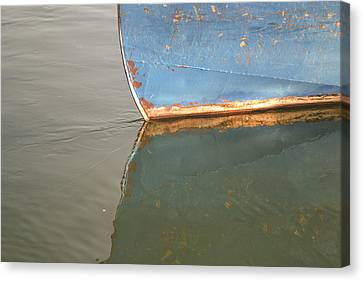 Rusty Hull Reflection Canvas Print by Bill Mock