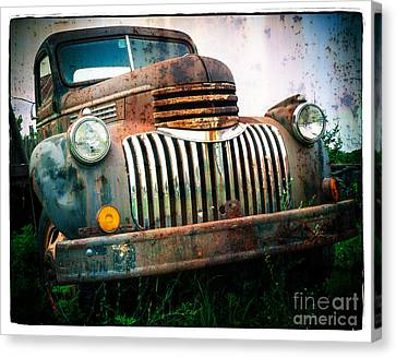 Rusty Old Chevy Pickup Canvas Print by Edward Fielding