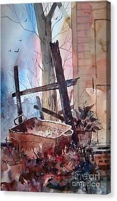 Rusty Tub Canvas Print by Micheal Jones