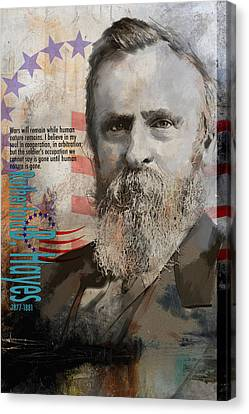 Rutherford B. Hayes Canvas Print by Corporate Art Task Force