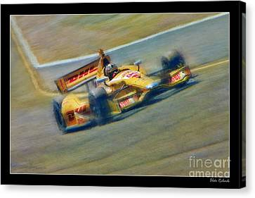 Ryan Hunter-reay Canvas Print by Blake Richards