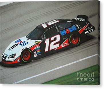 Ryan Newman On The Racetrack Canvas Print by Paul Kuras