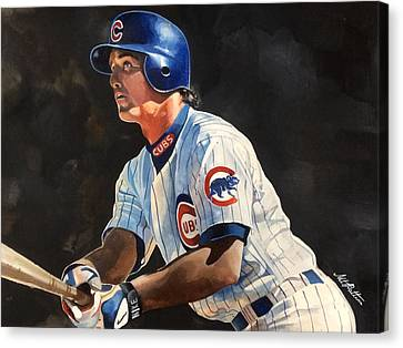 Ryne Sandberg - Chicago Cubs Canvas Print by Michael  Pattison